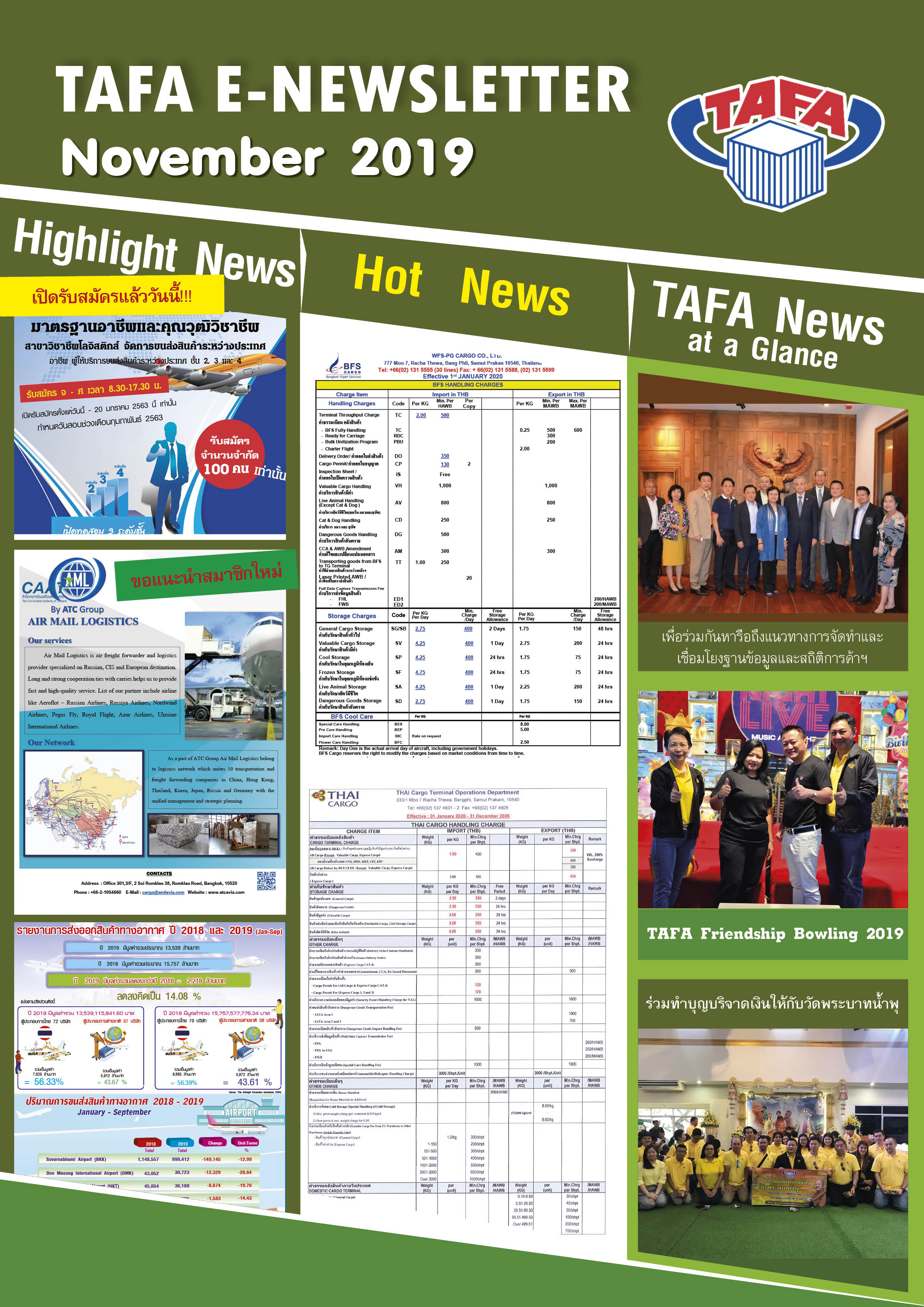 TAFA Newsletter, Issue 11 of November 2019